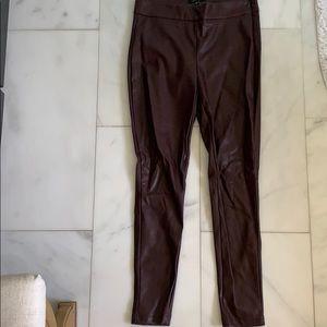 Ann Taylor faux leather legging sz 4
